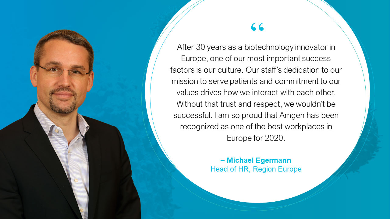 Michael Egermann, Executive Director Human Resources, Amgen Europe